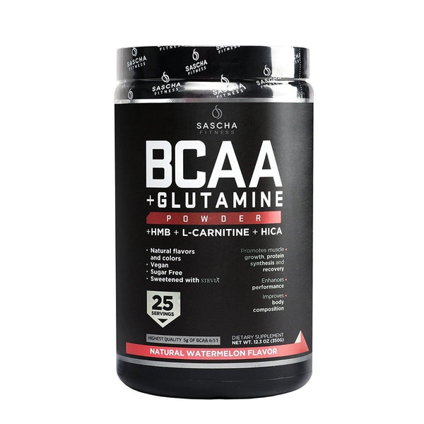 Sascha Fitness BCAA + Glutamine Powder 350gr Watermelon