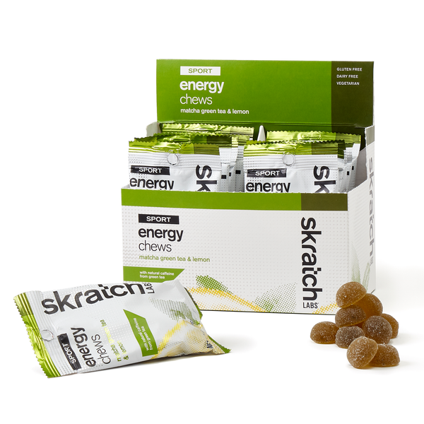 Skratch Labs Energy Chews Matcha Green Tea and Lemons 50gr c/10 pz