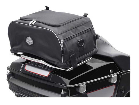 Harley-Davidson® Bar & Shield Zippered Collapsible Rack Bag 93300009 - Lind Harley-Davidson