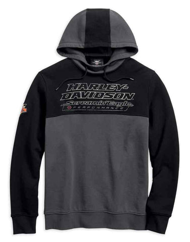 Harley-Davidson® Men's Screamin' Eagle Colorblock Pullover Hoodie 96273-18VM - Lind Harley-Davidson