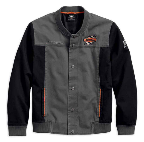 Harley-Davidson® Men's Screamin' Eagle Casual Jacket, Gray & Black 97465-18VM - Lind Harley-Davidson