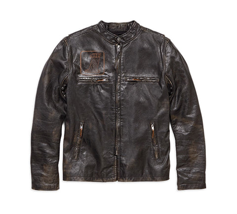 Harley-Davidson® Speed Distressed Slim Fit Leather Jacket - Lind Harley-Davidson