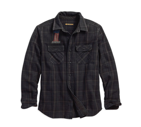 Harley-Davidson® Over-Dyed Plaid Slim Fit Shirt - Lind Harley-Davidson