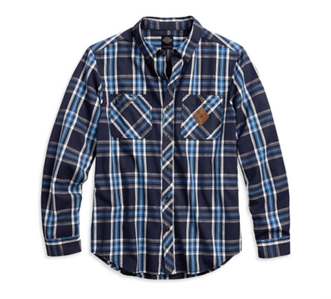Harley-Davidson® Plaid Button Front Slim Fit Shirt - Lind Harley-Davidson