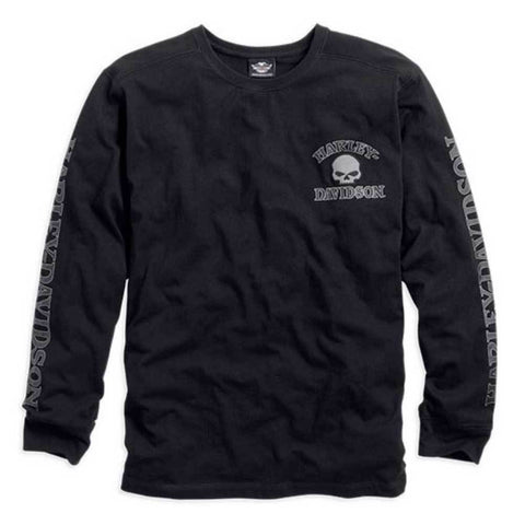 Harley-Davidson® Men's Willie G. Skull Long Sleeve Tee - Lind Harley-Davidson