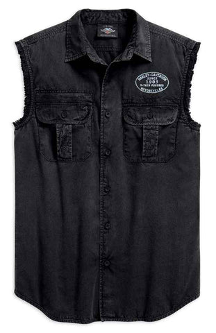 Harley-Davidson® Men's Winged Logo Blowout Shirt , 99157-19VM - Lind Harley-Davidson