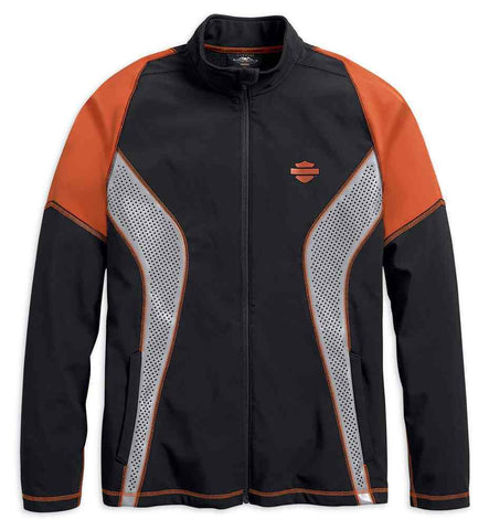 Harley-Davidson® Men's Performance Soft Shell Colorblocked Jacket 99216-19VM - Lind Harley-Davidson