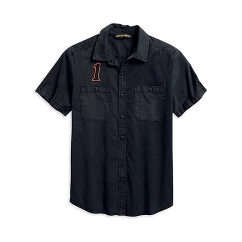 Harley-Davidson® Men's #1 Racing Logo Button Front Short Sleeve Shirt 96009-20VM - Lind Harley-Davidson