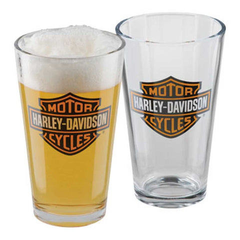 H-D Core Bar & Shield Pint Glass Set (set of two) - Lind Harley-Davidson