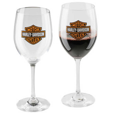 Harley-Davidson® Bar & Shield Logo Wine Glass Set - Lind Harley-Davidson