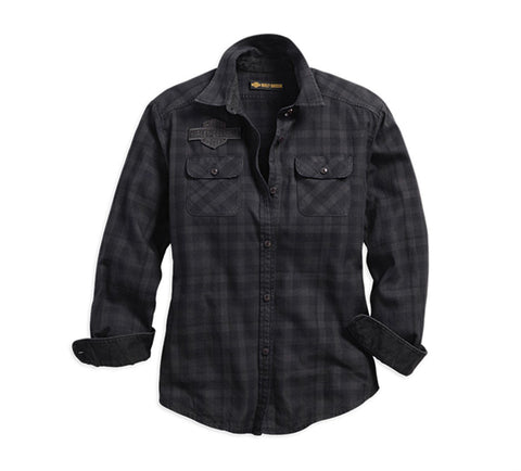 Harley-Davidson® Applique Plaid Flannel Shirt - Lind Harley-Davidson