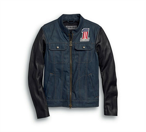 ARTERIAL ABRASION-RESISTANT SLIM FIT DENIM RIDING JACKET 98122-20EM - Lind Harley-Davidson