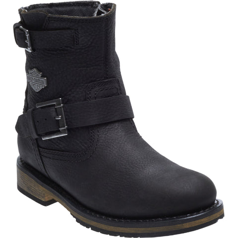 Harley Davidson Ladies Kommer Black Waterproof CE Approved Leather Boots D86126 - Lind Harley-Davidson
