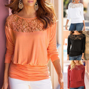 Loose Casual Ladies Long Sleeve Lace Up T Shirt
