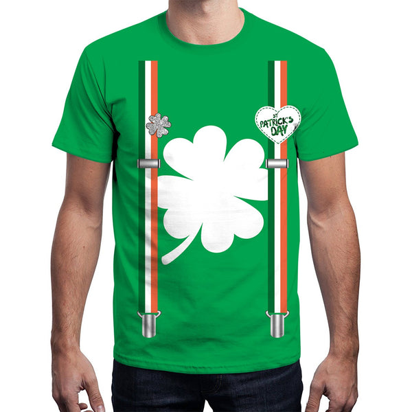 Four-leaf Clovers Print T-shirt