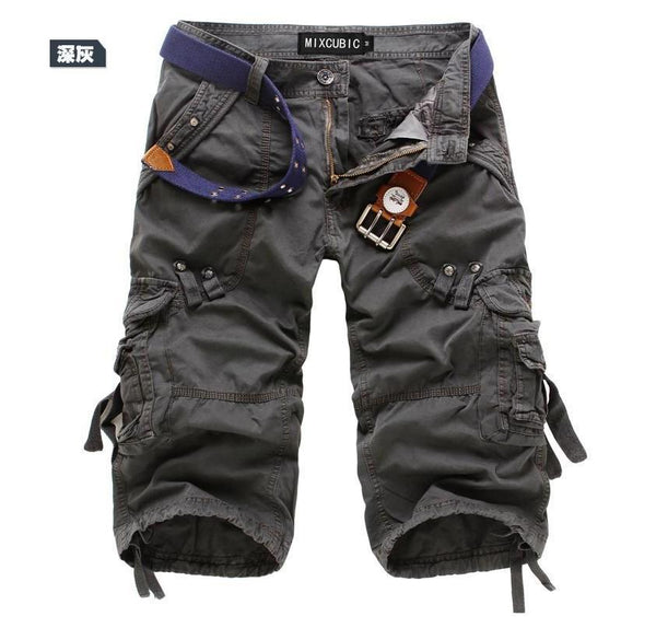 Men's Loose Multi-Pocket Overalls Shorts