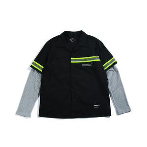 Fake Two-piece Thin Long-sleeved Hip-hop Jacket Shirt