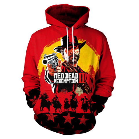 [RED DEAD REDEMPTION 2]3D Printed Pullover Hoodie