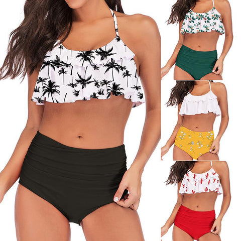 Pleated Ruffled Bikini