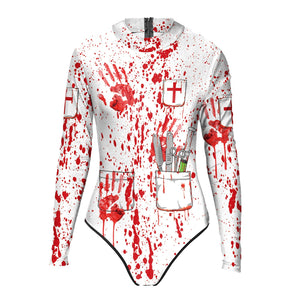 Halloween Blood Splatter Women's One-piece Swimwear