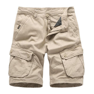 Men's Loose Multi-Pocket Cropped Shorts