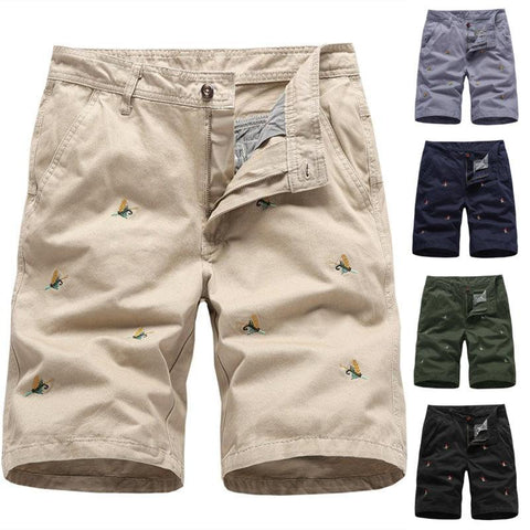 Men's Casual Cotton Workwear Straight Shorts
