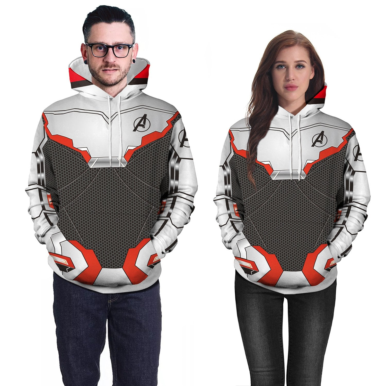 Avengers: Endgame Quantum Battle Suit 3D Print Unisex Long Sleeve Color Block Hoodie