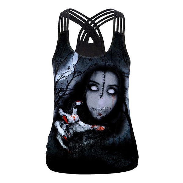 Scary Print Tank Top Halloween Costumes
