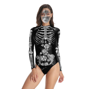 Halloween Sexy Slim Print Women's One-piece Swimwear