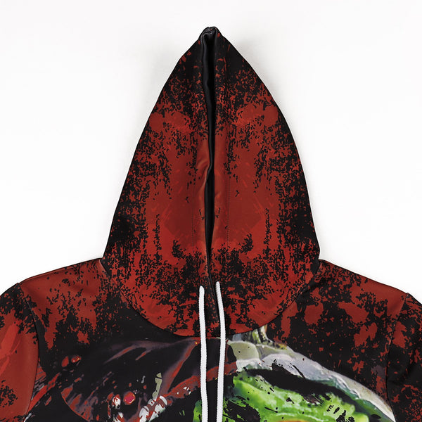Halloween 3d Variation Horror Pumpkin Head Digital Print Hoodie