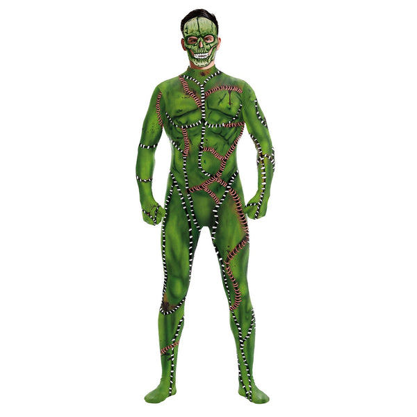 Halloween 3d Digital Print Tight Zipper with Socks Jumpsuit