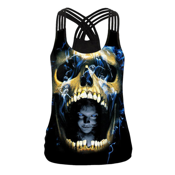 Halloween Night 3D Digital Print Tank Top Halloween Costumes