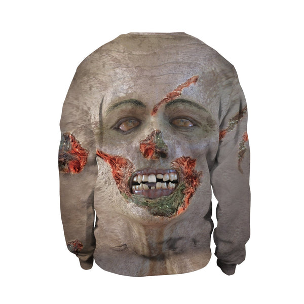 Realistic Face Print Sweatshirt Halloween Party Party Costume