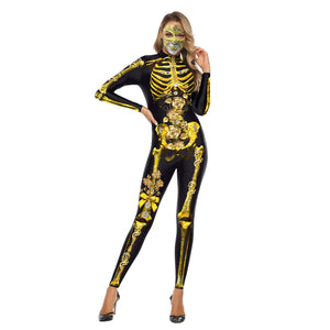 Halloween Ghost Festival 3d Horror Truss Print Jumpsuit