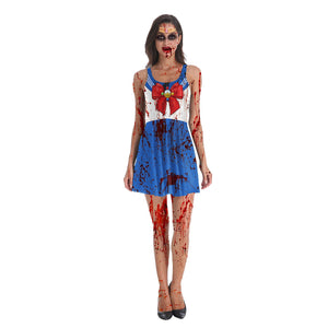 Halloween 3d Sailor Moon Digital Print Dress