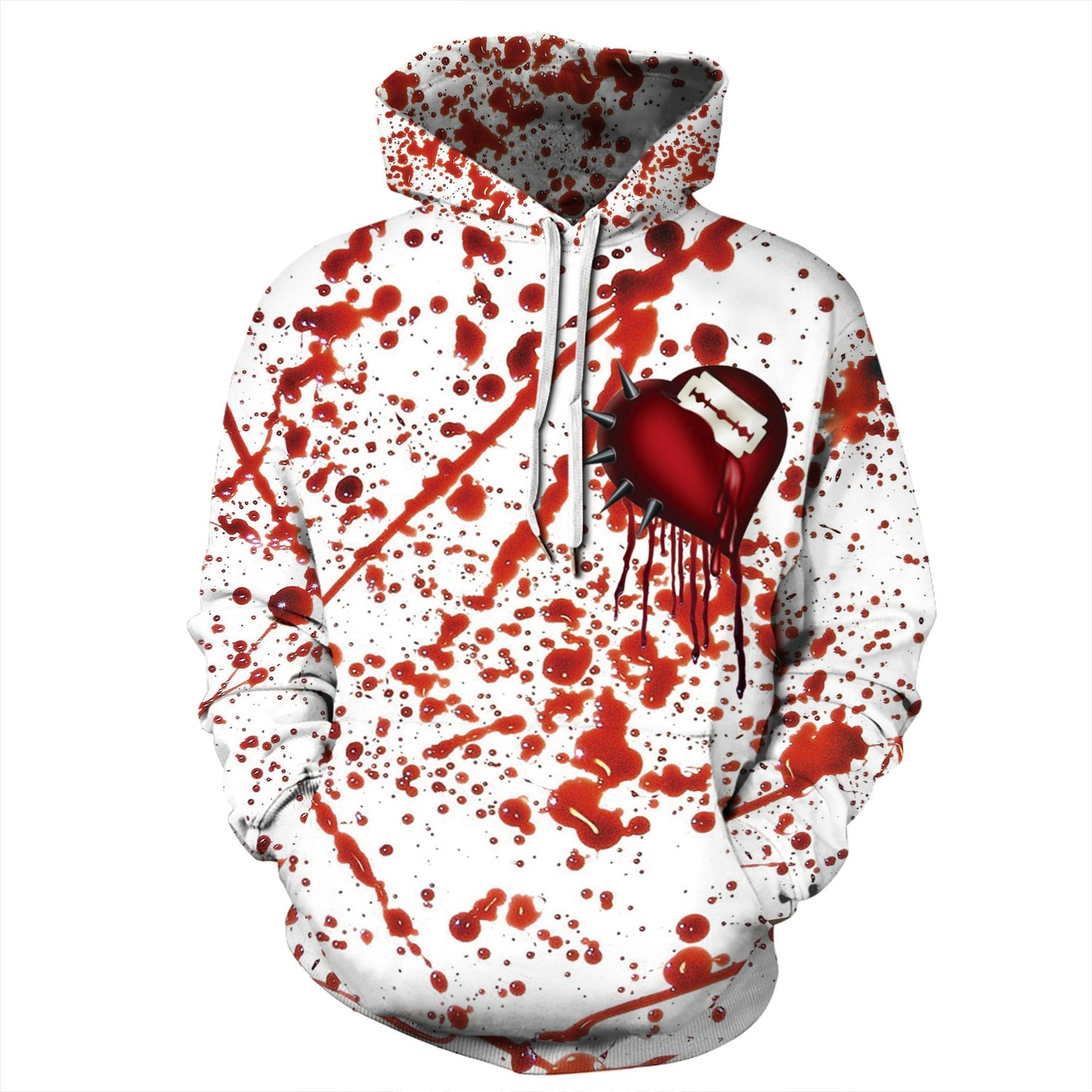 Halloween Blood Splash Print Hoodie S-5XL Plus Size Halloween Costumes