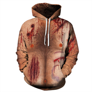 Halloween Horror Pattern Print Hoodie Plus Size Halloween Costumes