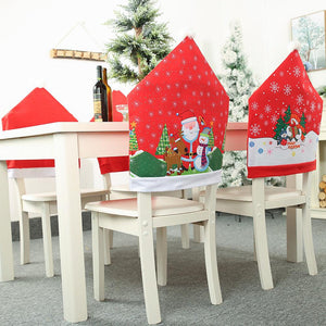 Santa Claus Hat Chair Covers Christmas Dinner Table Party