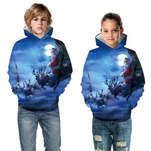 Christmas Children's Hooded Sweater Boys Long Sleeve Hoodies