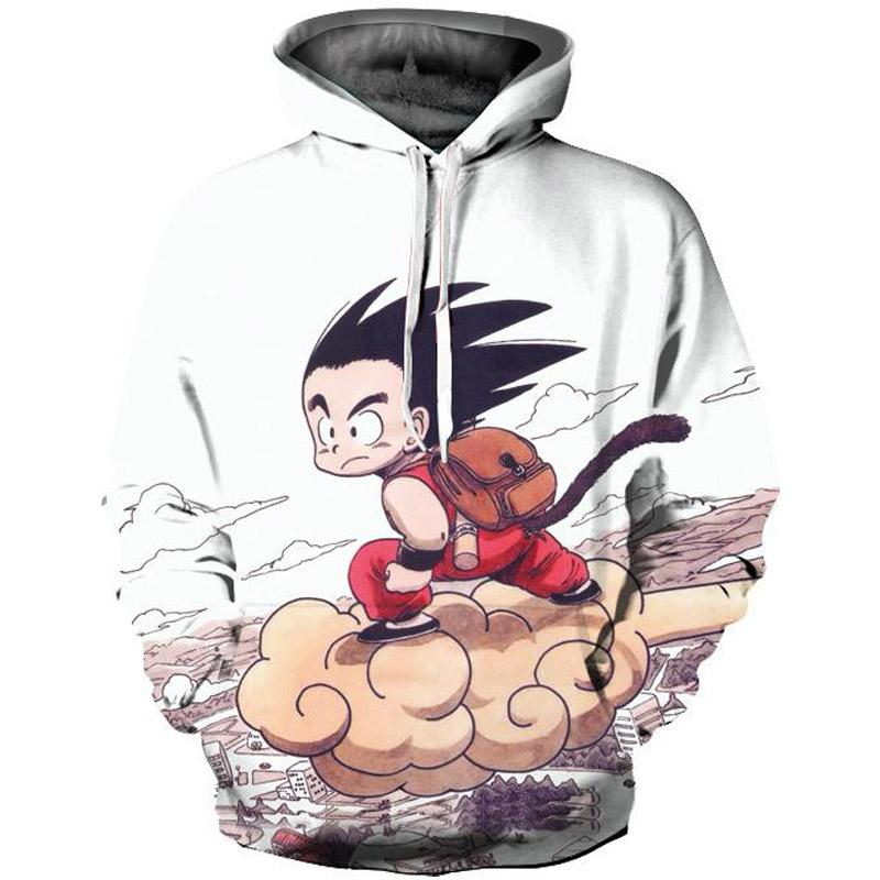 [DRAGON BALL] 3D Printed Long Sleeve Casual Hoodie
