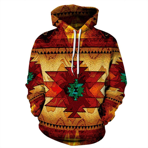 Big and Tall 3D Tribal totem Print Funny Loose Men Long Sleeve Hoodie Sweatshirt Jacket