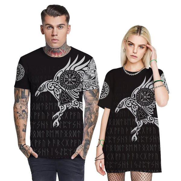3D Viking Myth Printed Funny Men T-shirt Loose Casual Novelty Short Sleeve Tees Top