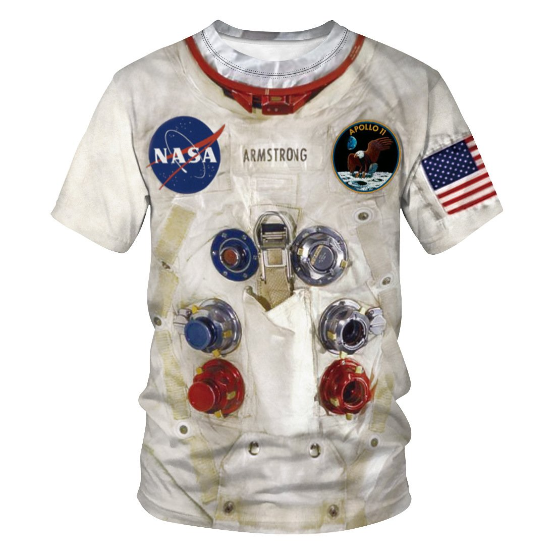 3D Astronaut Space Suit NASA Printed Funny Men T-shirt Loose Casual Novelty Short Sleeve Tees Top