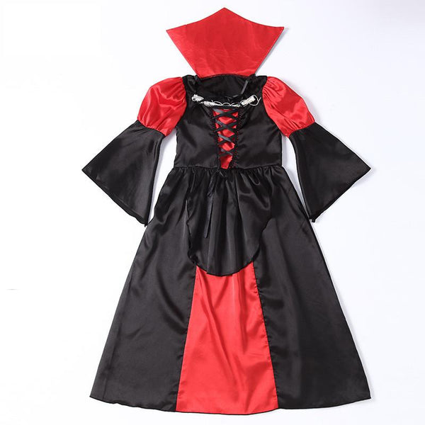 Girls Halloween Vampire Children Cosplay Costume Dress