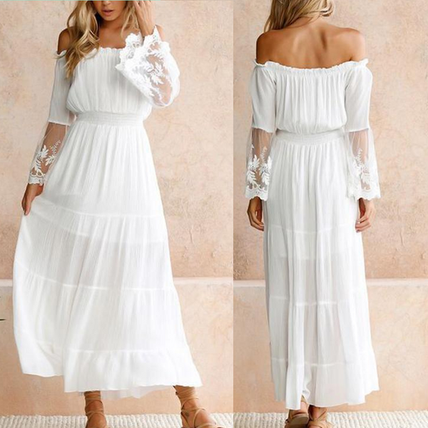 Summer Boho Long Beach Maxi Dress
