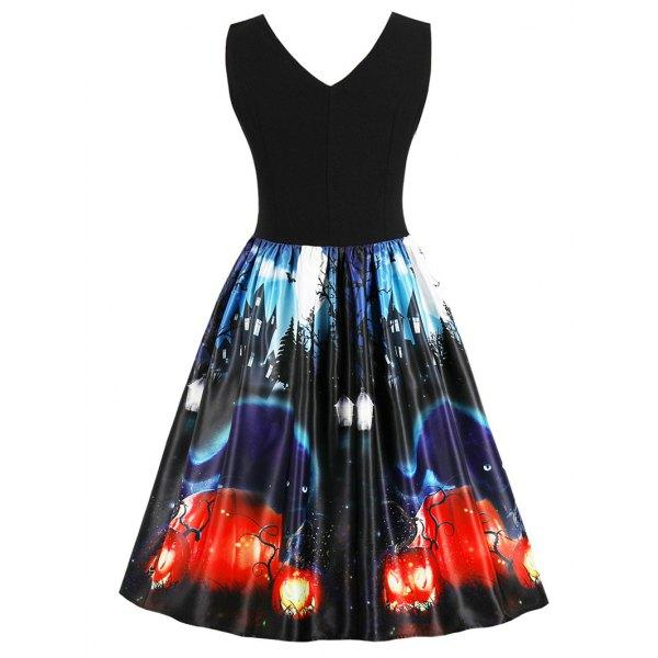 Halloween Retro Pin Up Dress(S-4XL)