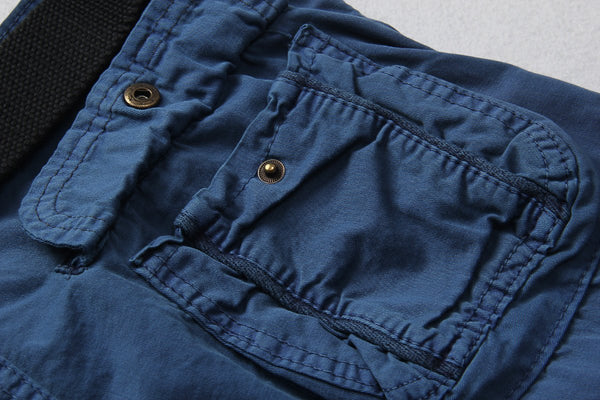 Zipper Fly Pockets Cargo Shorts