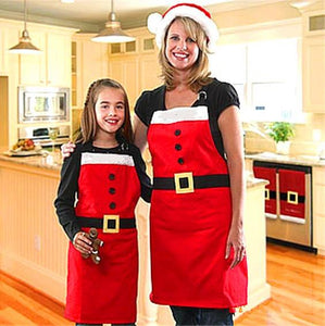 Christmas Day Clothing Accessories Christmas Apron Christmas Family Party Supplies