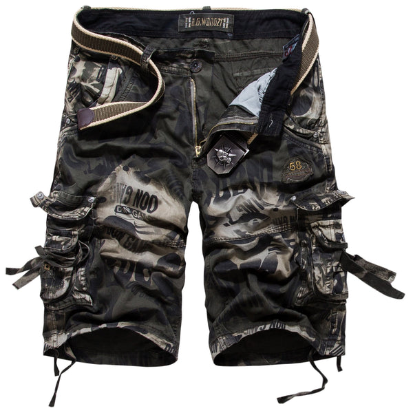 Multi-pocket Loose Five-pants Camouflage Pants