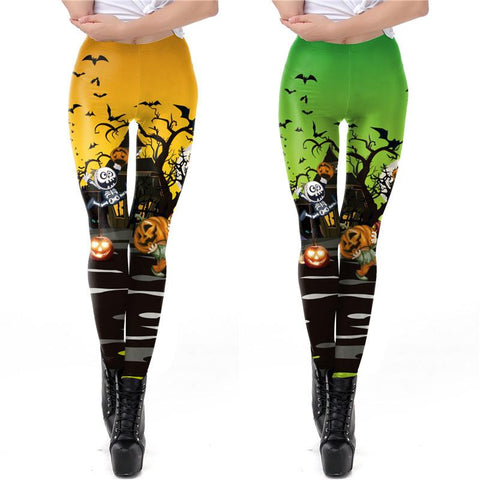 Halloween Night Print Sexy Leggings Halloween Costumes